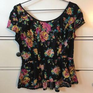 Floral Peplum Shirt